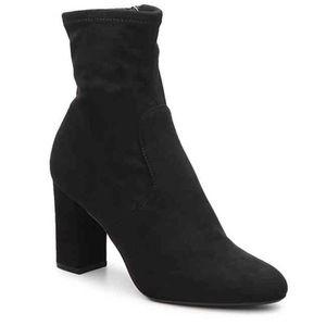 SOLD Steve Madden Black Sock Booties/Heels